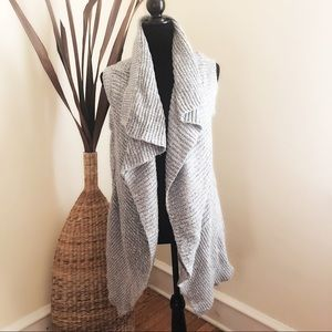 Atmosphere Gray open front knit cardigan size S
